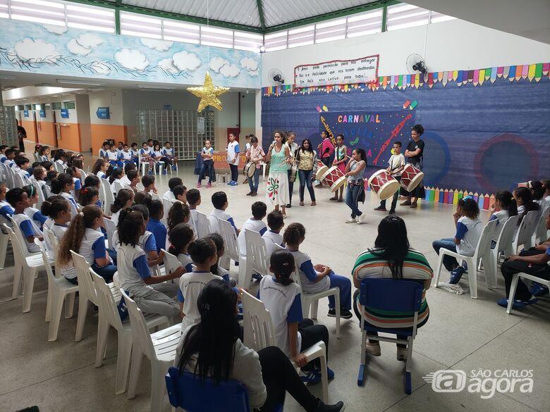 Escola Municipal de Ibaté desenvolve projeto sobre o Carnaval - Crédito: Divulgação