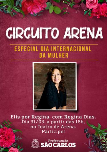 """Regina Dias apresenta o show """"Elis por Regina"""" domingo no Teatro de Arena do centro -"""