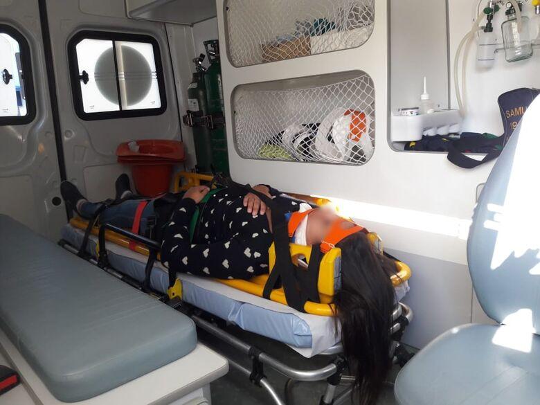 Colisão em cruzamento no Centro deixa motociclista ferida - Crédito: São Carlos Agora
