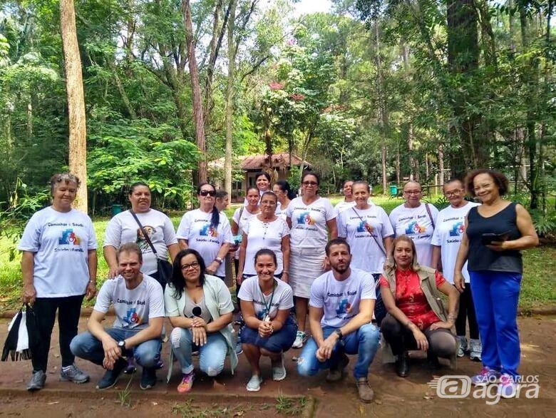 USF do Jóquei realiza atividades ambientais e esportivas com Grupo de Caminhada no Parque Ecológico - Crédito: Divulgação