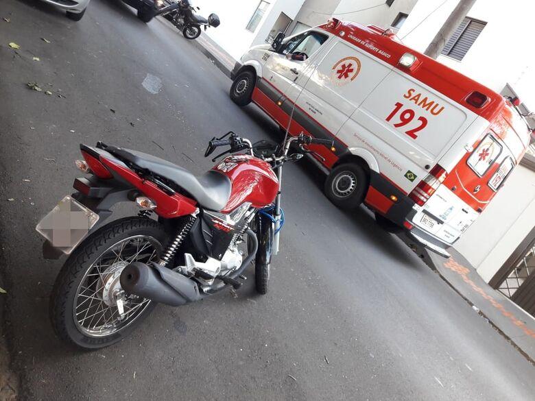 Após queda de moto, dois ficam feridos - Crédito: São Carlos Agora