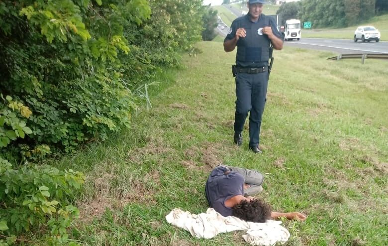 Guarda Municipal de Ibaté evita tragédia na rodovia Washington Luís - Crédito: Divulgação