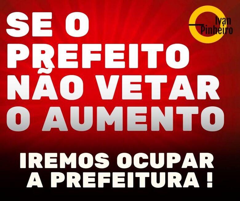 Movimento nas redes sociais promete ocupar a Prefeitura - Crédito: Divulgação