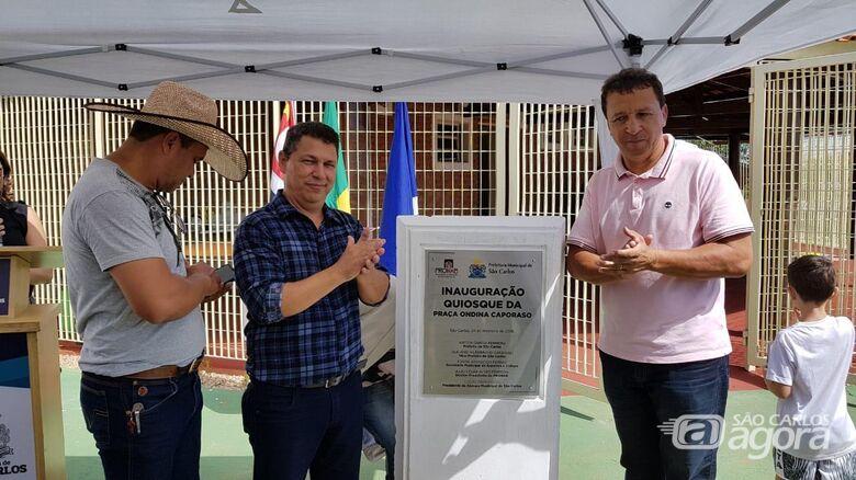 Malabim participa da inauguração do quiosque da Praça Ondina Caporaso no Douradinho - Crédito: Divulgação