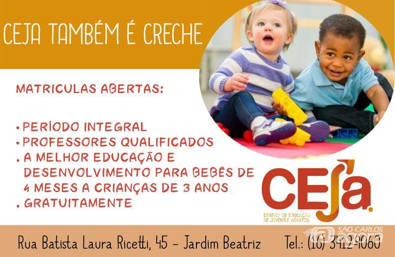 Ceja permanece com matrículas gratuitas para creche - Crédito: Divulgação
