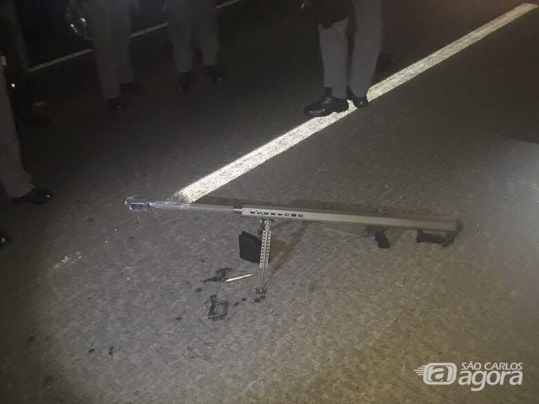 Bandidos atacam carro-forte em rodovia da região - Crédito: Divulgação/PM