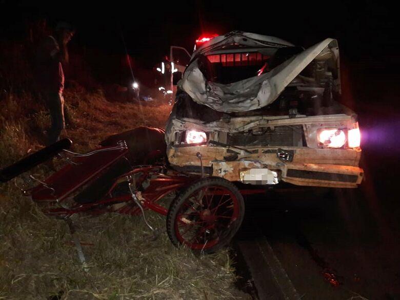 Grave acidente com charrete deixa quatro pessoas feridas na estrada do 29 - Crédito: São Carlos Agora