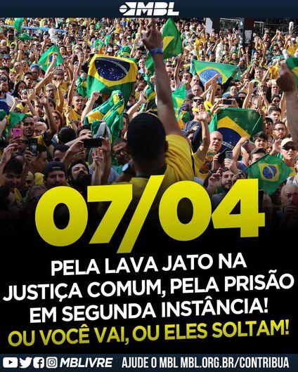 """Carreata em São Carlos quer """"salvar"""" a Lava Jato, prisão em 2ª instância e impeachment de Gilmar Mendes - Crédito: Divulgação"""
