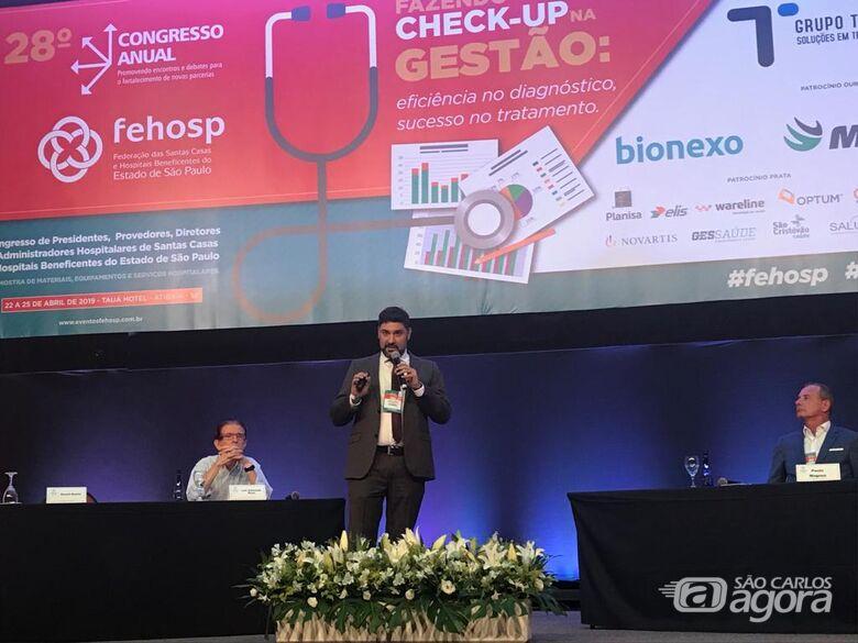 Superintendente da Santa Casa de São Carlos apresenta diagnóstico da cultura organizacional na Fehosp - Crédito: Divulgação