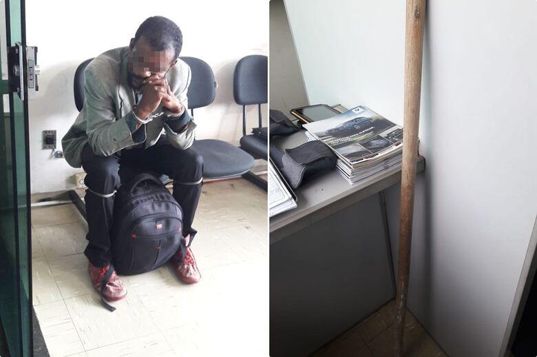 Homem é detido após quebrar vidro na sala do juiz no Fórum Criminal - Crédito: São Carlos Agora
