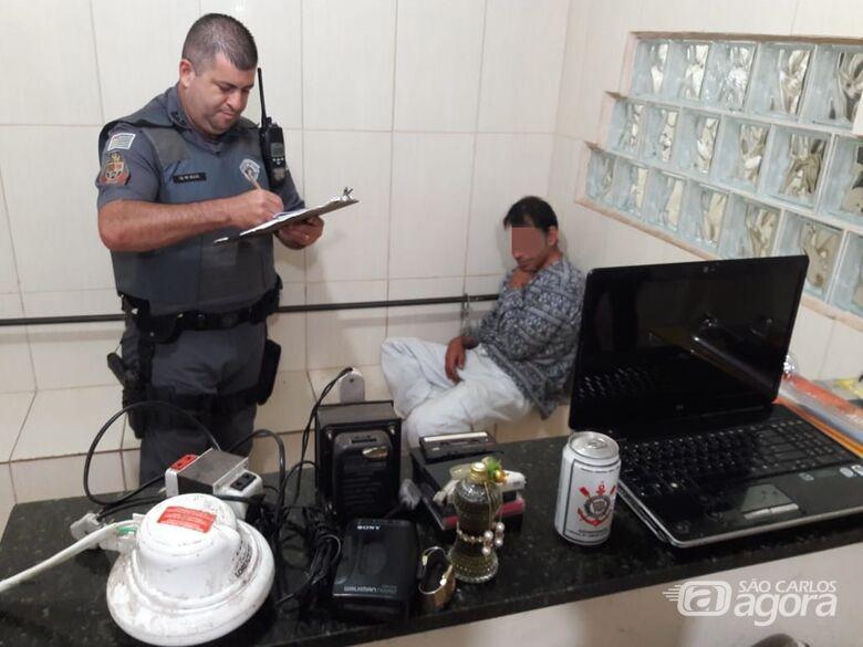 Pedreiro é detido após furtar casa de comerciante na Vila Mercedes - Crédito: São Carlos Agora