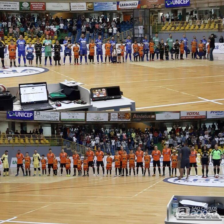 Atletas do Multi Esporte participam da preliminar do jogo da Liga Nacional - Crédito: Divulgação