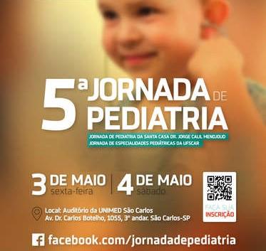 Jornada de Pediatria será realizada nos dias 3 e 4 de maio em São Carlos - Crédito: Divulgação