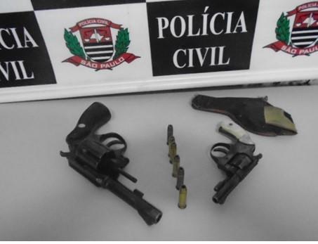 Segurança é preso pela Polícia Civil após ser flagrado armado em Porto Ferreira - Crédito: Divulgação