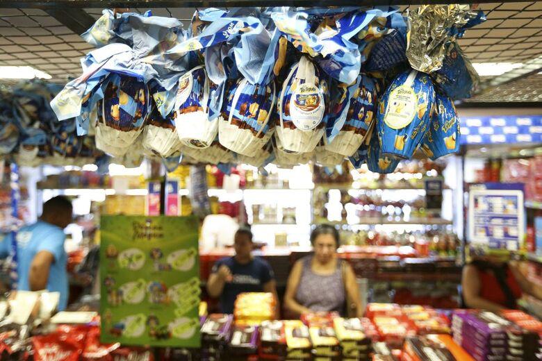 Ovos de Páscoa estão, em média, 40% mais caros do que em 2018 - Crédito: Agência Brasil