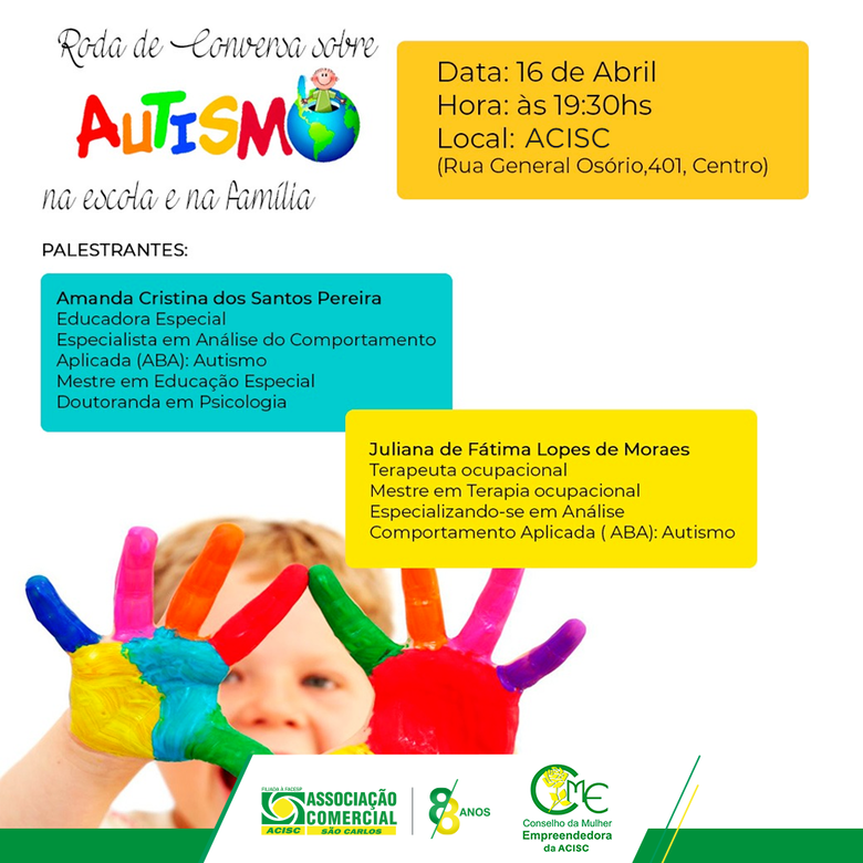 CME da Acisc promove palestra gratuita sobre autismo -