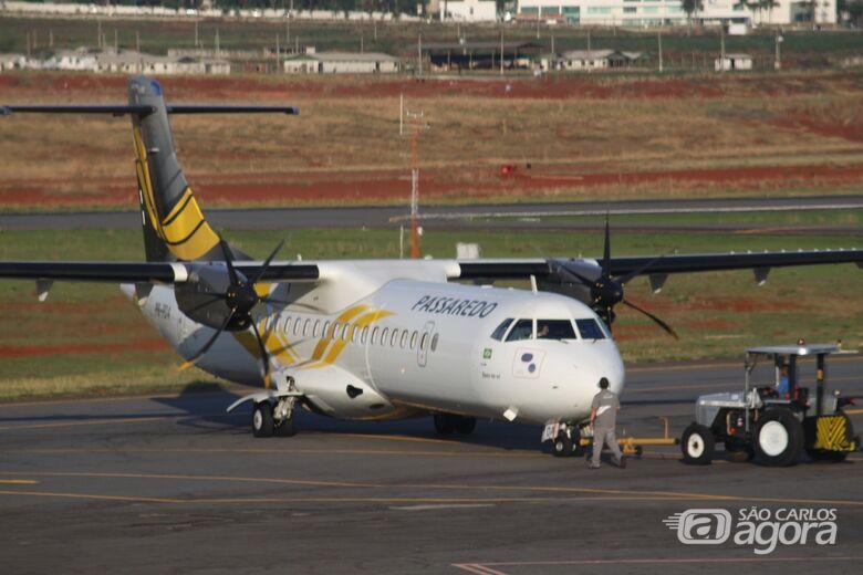Passaredo anuncia voos comerciais no aeroporto de São Carlos - Crédito: Divulgação