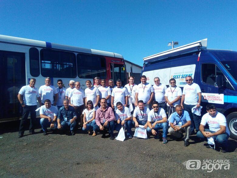 Funcionários da Suzantur participam do Programa CNT SEST SENAT de Prevenção de Acidentes - Crédito: Divulgação