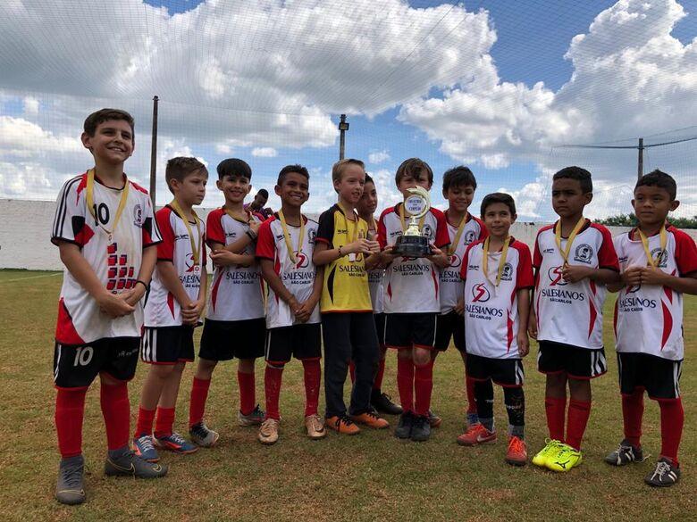 Salesianos é campeão no sub9 e vice no sub7 na Copa Cordeirópolis - Crédito: Divulgação