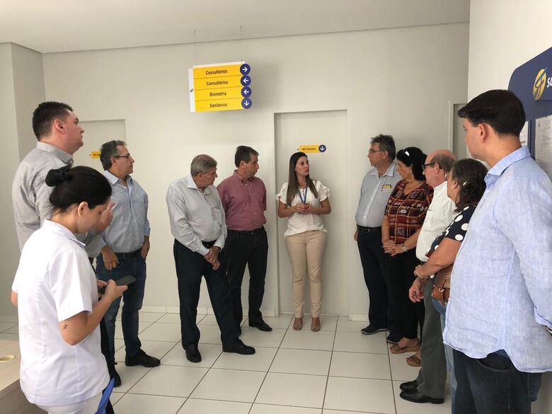 Diretoria da Acisc visita instalações da São Francisco Saúde - Crédito: Divulgação