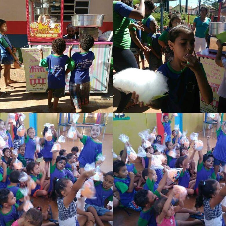 Ação solidária faz a festa de crianças carentes de ONG no Zavaglia - Crédito: Divulgação