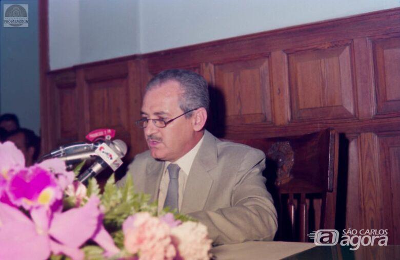 "Dorival ""Mazola"" Penteado, vereador que elevou a política da cidade - Crédito: CMSC/FPMSC/Álbum de família"
