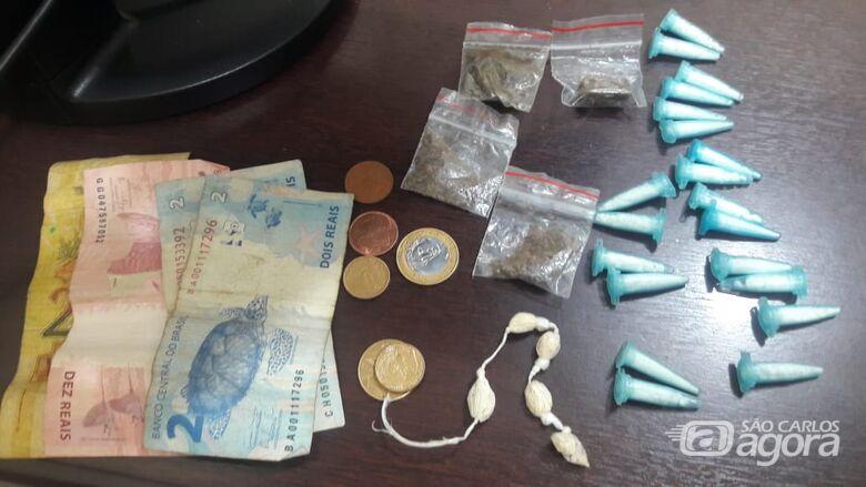 Jovem é flagrado com drogas no Jacobucci - Crédito: Divulgação