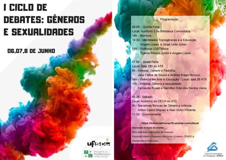 UFSCar sedia evento sobre infância, gênero e sexualidade - Crédito: Divulgação