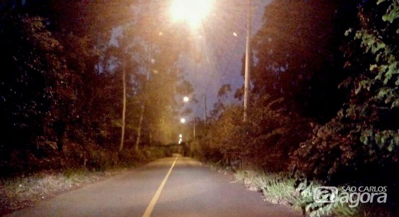 Obra de iluminação pública na estrada do IFSP é concluída - Crédito: Divulgação