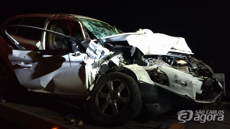 Colisão frontal deixa dois feridos na SP-215 - Crédito: Descalvado Agora