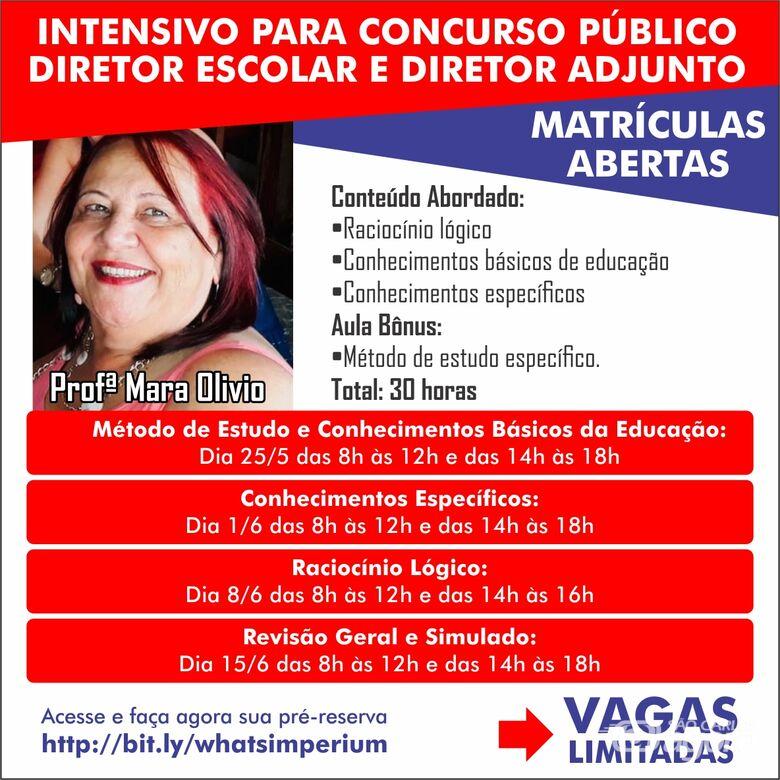 7 Dicas da Professora Mara Olivio para o Concurso da Prefeitura Municipal de São Carlos na Área de Educação - Crédito: Divulgação