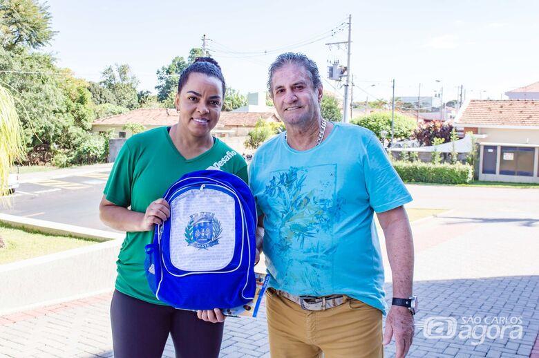 Com presença da medalhista olímpica Fofão, alunos participam do Dia do Desafio em Ibaté - Crédito: Divulgação