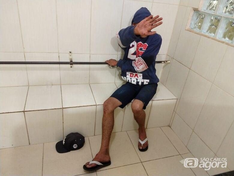 Jovem é detido após danificar a casa do pai no Pacaembu - Crédito: São Carlos Agora