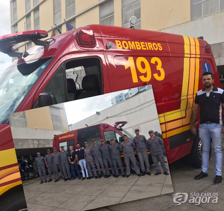 Vereador Rodson participa de entrega de unidade móvel de resgate para Bombeiros - Crédito: Divulgação