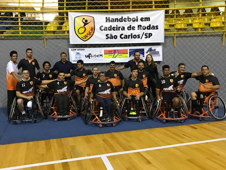 Etapa do Paulista de Handebol em Cadeira de Rodas é realizada no Milton Olaio Filho - Crédito: Divulgação