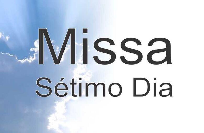 Convite para Missa de Sétimo Dia do senhor Carlos Balassone -