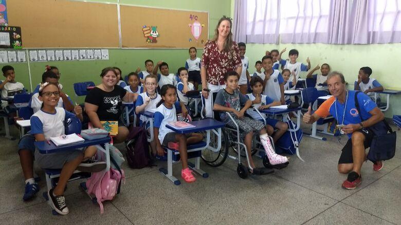 Escola Brasilina participa do Projeto Meio Ambiente da Centrovias Arteris - Crédito: Divulgação