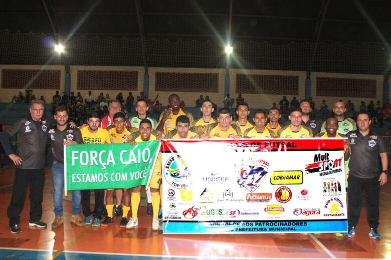 São Carlos Futsal 'mata' Águas da Prata e se qualifica entre as 8 melhores equipes - Crédito: Divulgação