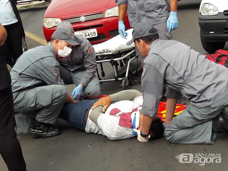 Colisão no centro deixa motoboy ferido - Crédito: Maycon Maximino