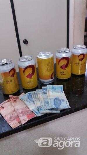 Acusado de roubo é detido por policiais militares - Crédito: Divulgação