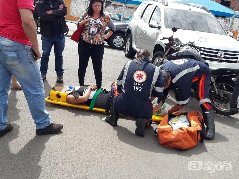 Motociclista fica ferida após colisão no Boa Vista - Crédito: Maycon Maximino