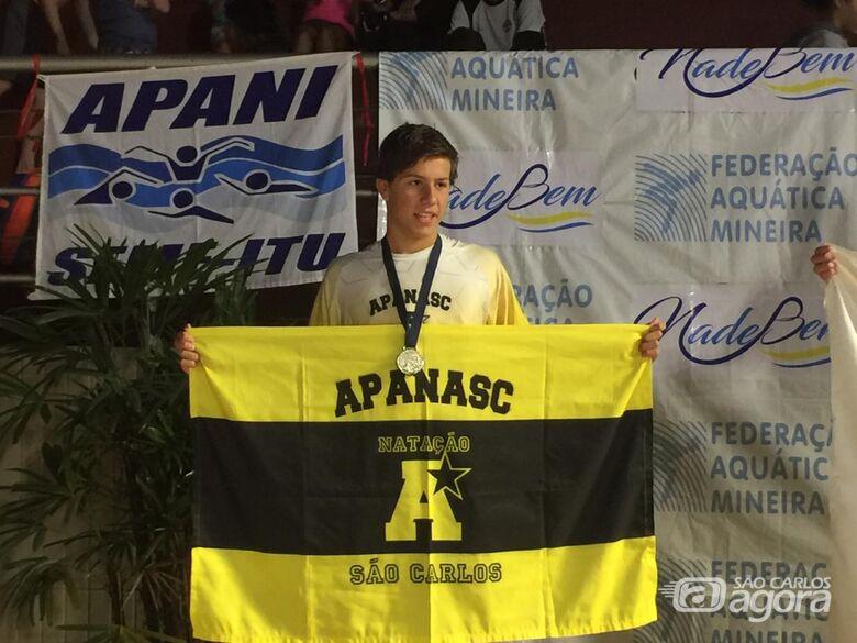 Nadador da Apanasc/Smec é vice-campeão brasileiro - Crédito: Divulgação