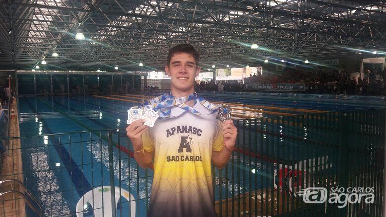 Gabriel Ferretti é prata no Paulista de Inverno - Crédito: Divulgação