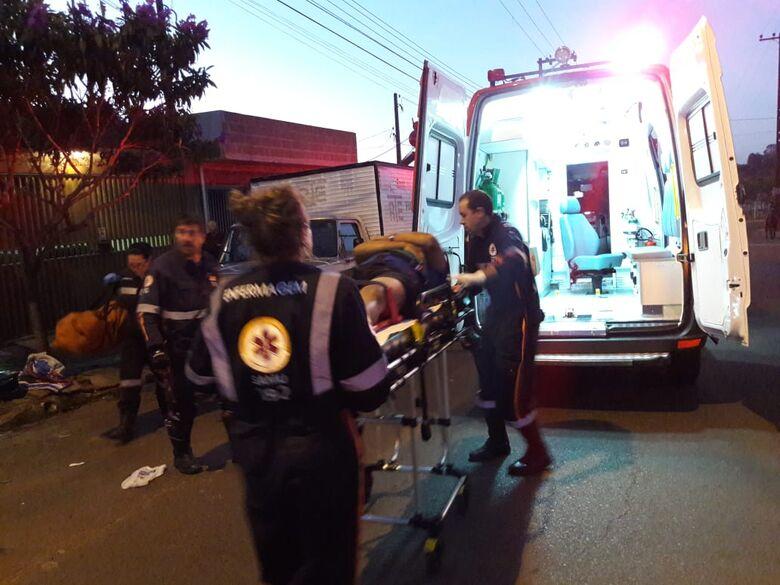 Motociclista colide frontalmente contra caminhonete no Santa Maria -