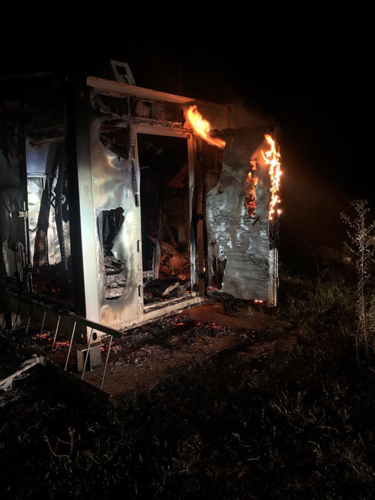 Transmissores da rádio POP FM são incendiados - Crédito: Divulgação