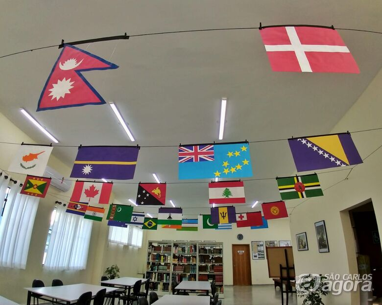 """Biblioteca Municipal de Ibaté recebe exposição """"Bandeiras Curiosas"""" - Crédito: Divulgação"""