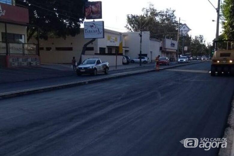 Avenida São Carlos já está liberada no sentido rodovia/centro -
