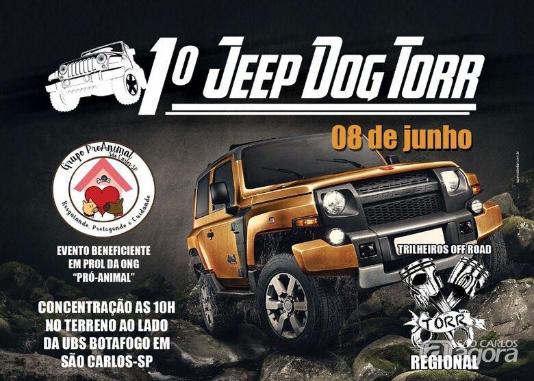 1º Jeep Dog Torr acontece neste sábado e vai ajudar animais abandonados -