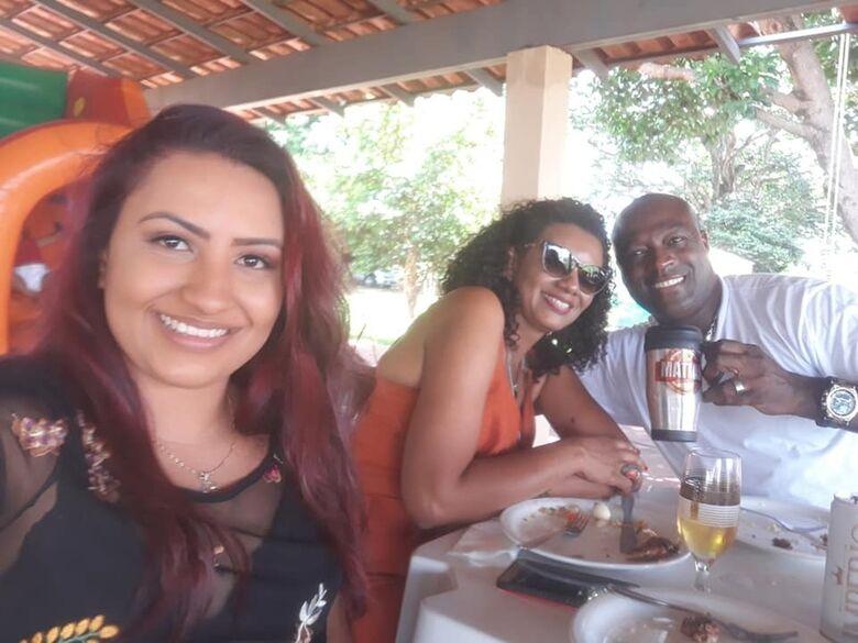 Larissa, Jaciane e o cabo Matias - Crédito: Redes Sociais