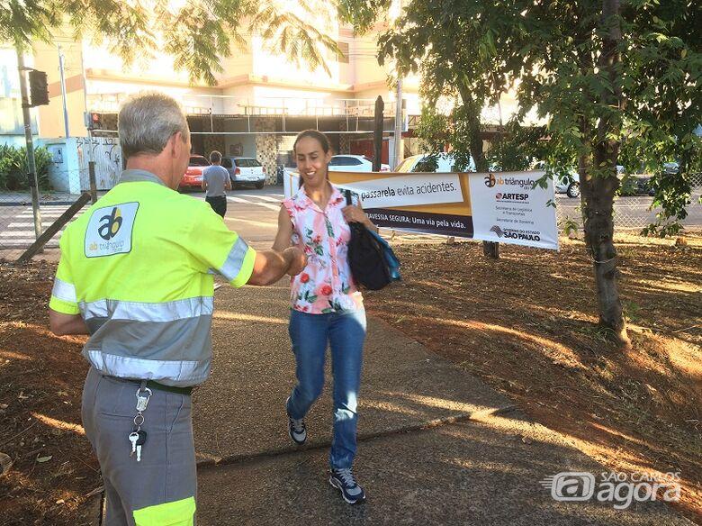 São Carlos recebe ação de segurança viária para pedestres nesta segunda, 17 - Crédito: Divulgação